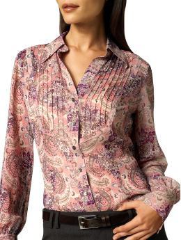 Sheer Paisley Blouse