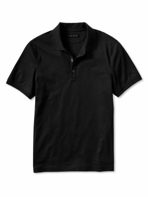 Banana Republic Luxe Touch Cotton Solid Polo Shirt