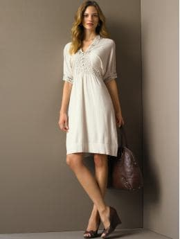 BananaRepublic.com: women: Cotton crochet-trim dress: sweater dresses: new arrivals from bananarepublic.com