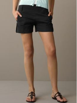 BananaRepublic.com: women: Martin cotton button-cuff short: shorts: shorts & cropped pants from bananarepublic.com