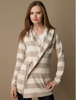 BananaRepublic.com: women: Hooded wrap sweater: cardigans & wraps: sweaters