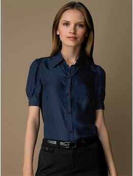 BananaRepublic.com: women: Silk puff-sleeve blouse: short sleeve: blouses & shirts from bananarepublic.com
