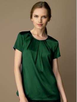 BananaRepublic.com: women: Silk pleat-front t-shirt: short sleeve: blouses & shirts from bananarepublic.com
