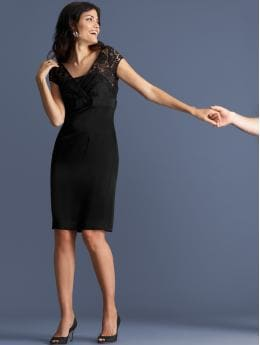 women: Lace v-neck dress: party: dresses | Banana Republic from bananarepublic.com