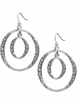 women: Concentric circle earring: holiday bash: season's best looks | Banana Republic