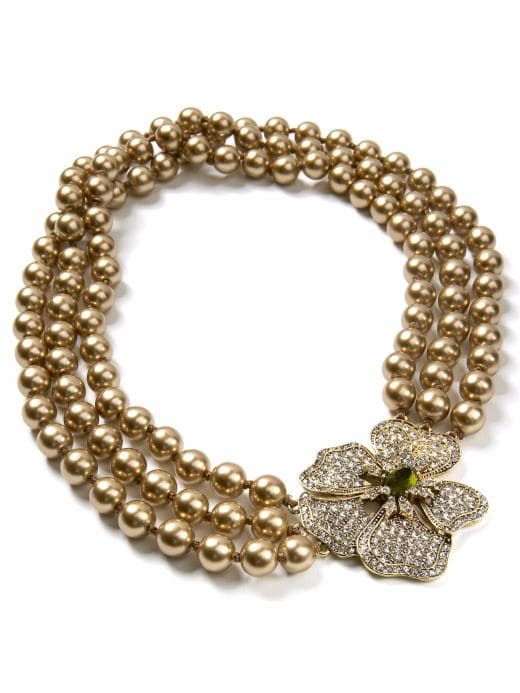 women: Pansy pearl necklace: finishing touches: going out | Banana Republic from bananarepublic.com