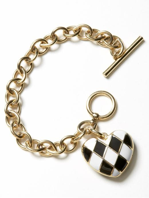 jewelry & accessories: Enamel heart bracelet: valentine's day gifts | Banana Republic from bananarepublic.com