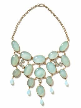 Women's Jewelry & Accessories: Genuine chalcedony bib necklace: short & long necklaces | Banana Republic from bananarepublic.com