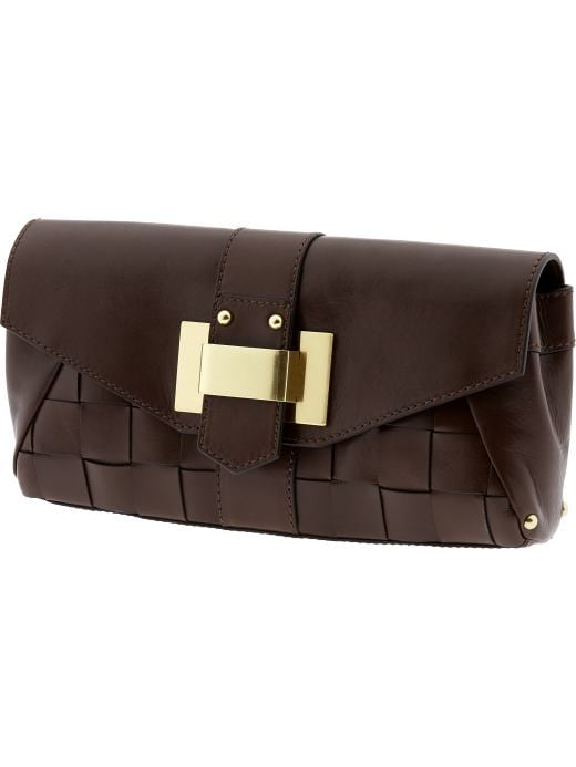 Shoes & Handbags: Leather Archive woven clutch: see all handbags | Banana Republic