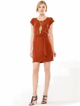 Women's Apparel: Cap-sleeve t-shirt dress: dresses special savings - 30% off | Banana Republic