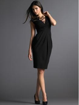 Sleeveless origami knit dress: little black dresses dresses | Banana Republic