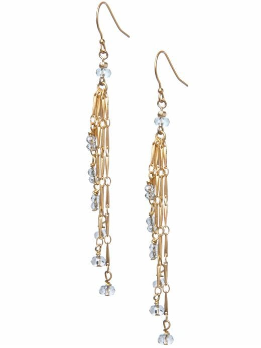 Women's Jewelry & Accessories: Multi-chain glass drop earring: drops earrings | Banana Republic