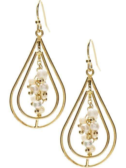 Women's Apparel: Teardrop cluster earring: drops earrings jewelry | Banana Republic