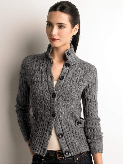 Women's Apparel: Cable-knit jacket: sweater coats sweaters | Banana Republic