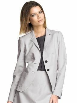 Women's Apparel: Sleek flap-pocket blazer: moonlight sleek suiting suit collections | Banana Republic :  jacket cotton stretch women