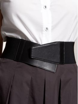 Wide Stretch Geometric Belt