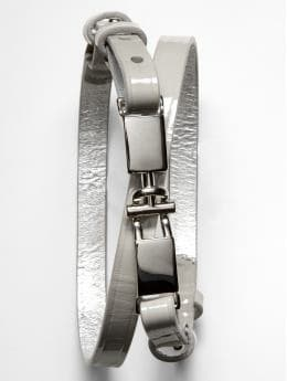 Women: BR Monogram patent leather belt - Gray