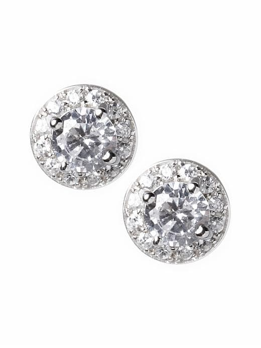 Banana Republic Women's Cubic Zirconia Vintage Earrings