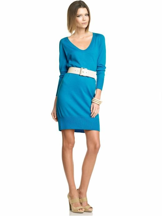 Women's Apparel: Back-zip sweater dress: solids dresses | Banana Republic