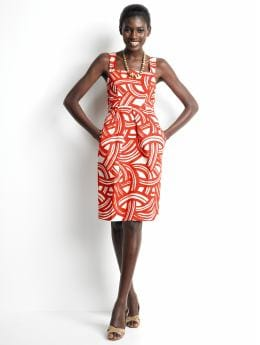 Women's tall: Tall abstract-print dress - Sarong red