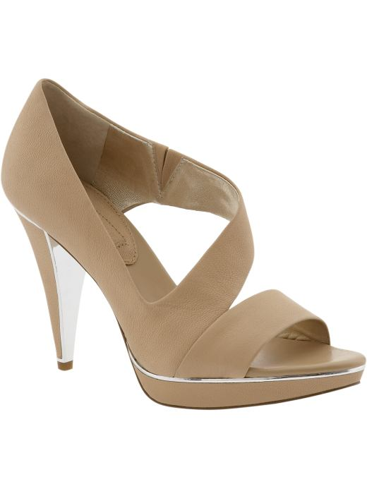 Women's Tall Apparel: 'Rocio' cross-strap platform sandal: sandals shoes | Banana Republic