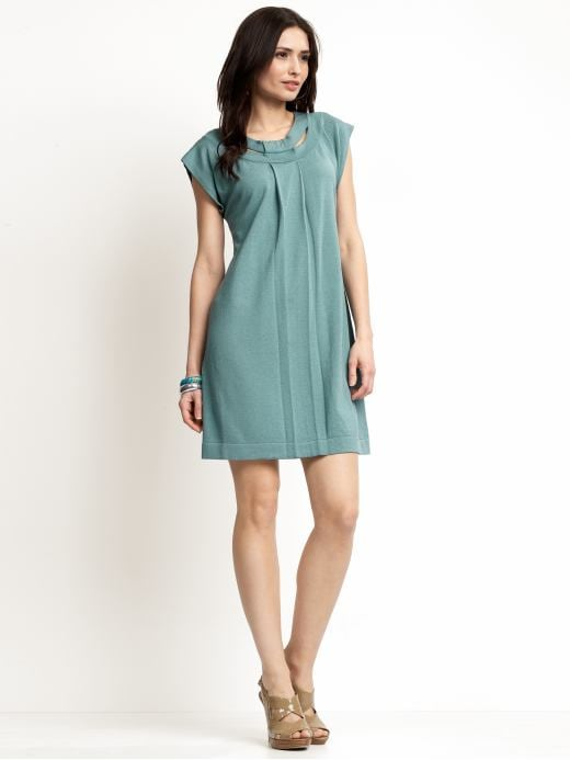 Women's Apparel: Cut-out sweater dress: dresses sale | Banana Republic :  light blue cap sleeves crewneck dress