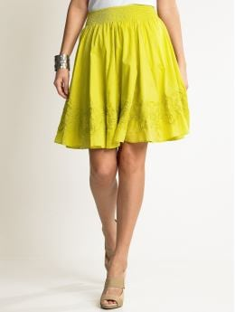 Women's Apparel: Cotton smocked skirt: full skirts | Banana Republic :  spring embroidered cotton summer