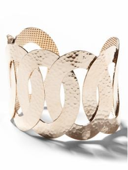 Women: Oval links cuff - Gold