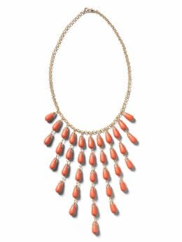 Women: Sunray bead necklace - Orange
