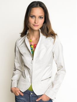 Women: Cotton motorcycle jacket - Slick rock