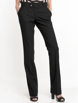 Women: Ryan essential straight pant - Black