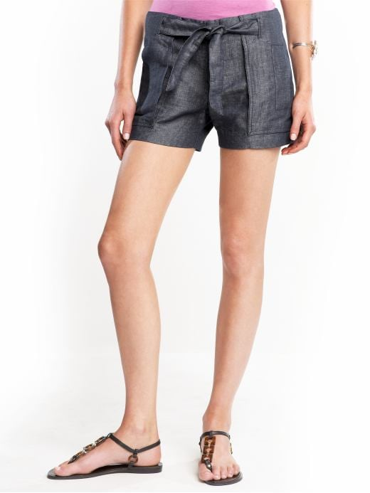 Women's Apparel: Martin chambray short: martin pants by fit | Banana Republic :  spring shorts summer hook and eye