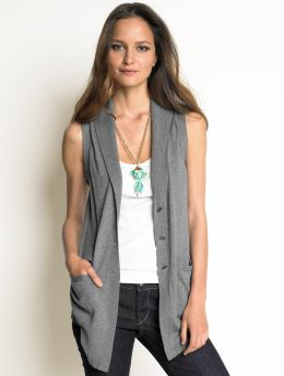 Petite lightweight sweater vest :  shopping grey vest woman