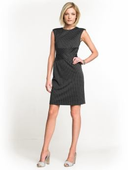 Women: Graphic-print sheath dress - Black