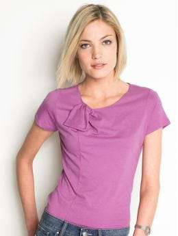 Women: Bow-tie top - Summer orchid