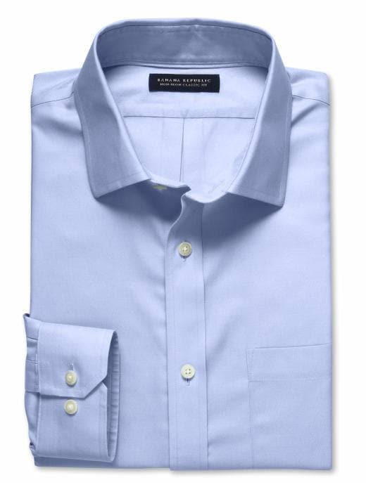 Banana Republic Men's Sky Blue Classic Fit Non-Iron Shirt - Sky blue
