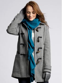 Women: Modern toggle coat - Charcoal gray heather