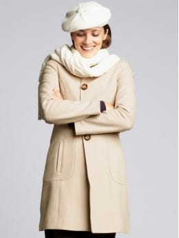 Women's tall: Tall wool-blend lady coat - Misty taupe