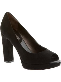 Women: Rima peep-toe high-heel platform - Black