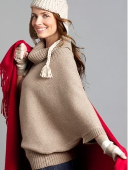 Women's Apparel: 3/4-sleeve cowlneck sweater: new arrivals | Banana Republic :  fashion nude colours winter accesories gloves