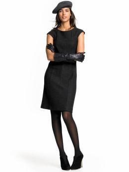 Women: Cap-sleeve sheath dress - Black combo