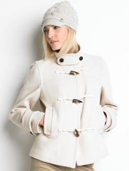 Women's tall: Tall short toggle coat - Lattice beige