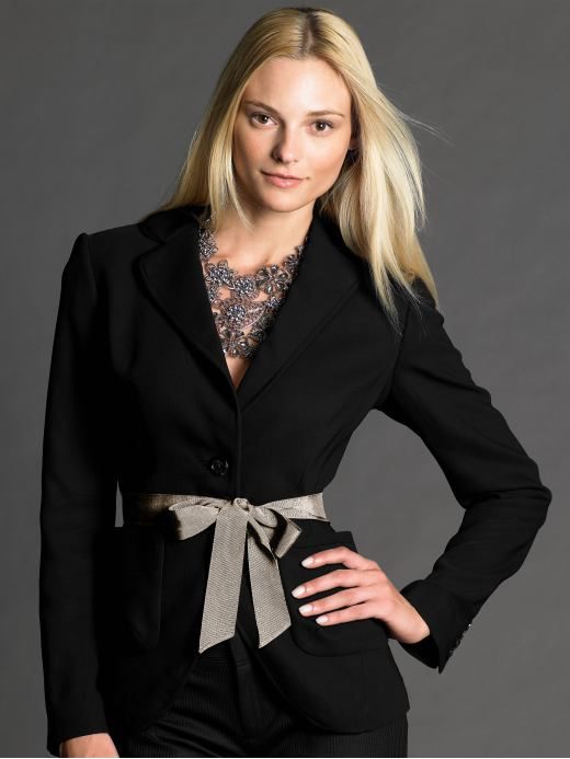 Women's Apparel: BR Monogram one-button blazer: blazers blazers & outerwear | Banana Republic :  blazer monogram one button br