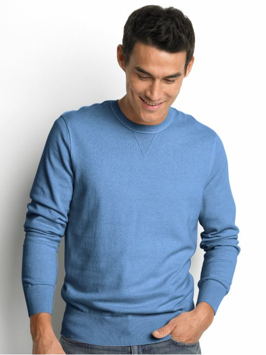 Banana Republic Cotton/cashmere raglan crewneck sweater