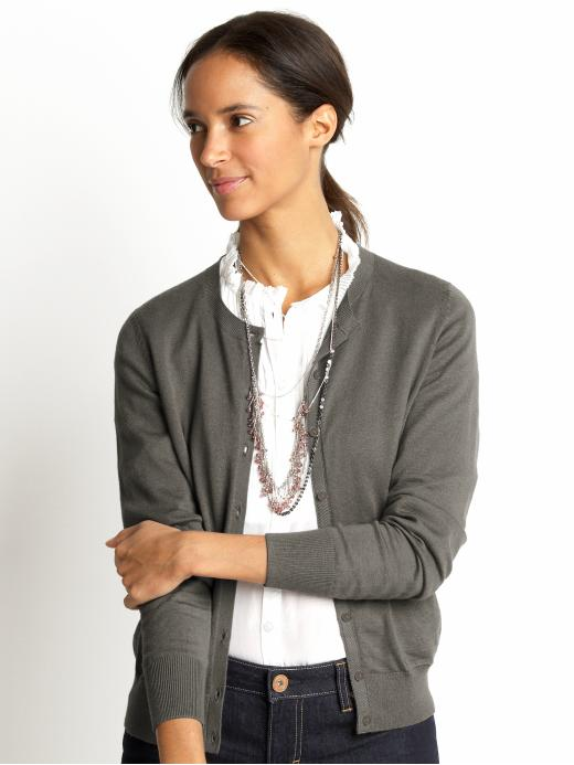 Banana Republic Cotton/cashmere crewneck cardigan