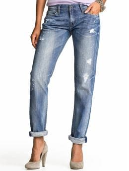 Banana Republic - Boyfriend Light Wash Busted Jean :  boyfriend jeans banana republic denim blue jeans