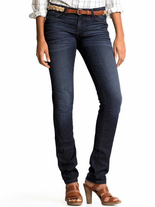 Banana Republic Skinny dark wash creased jean with a 36 inseam