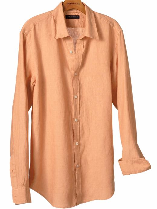 Banana Republic Slim fit linen solid shirt