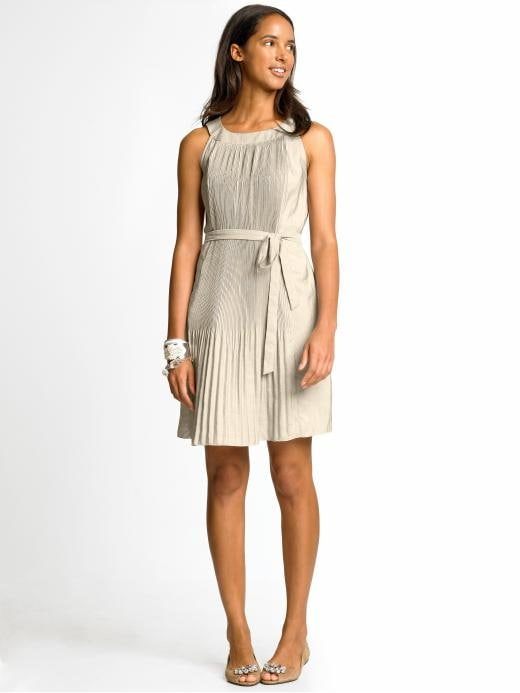 BR Monogram mini-pleat dress