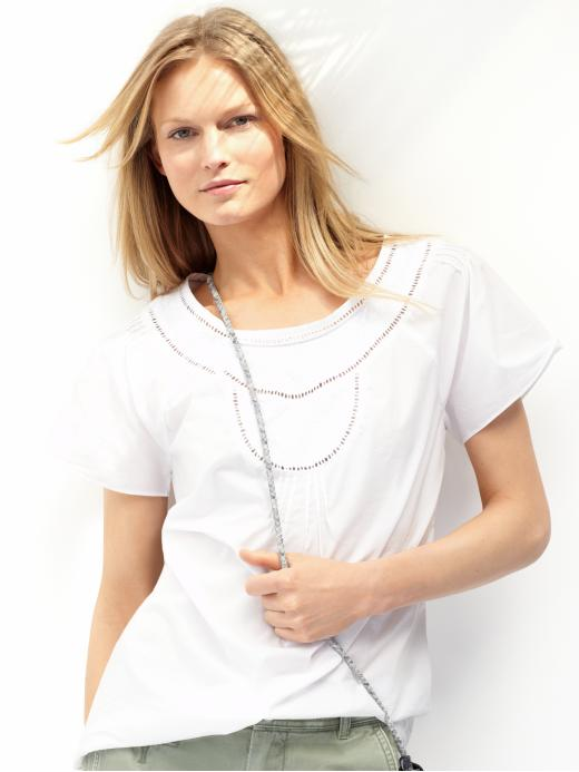 Banana Republic Tall eyelet bib top